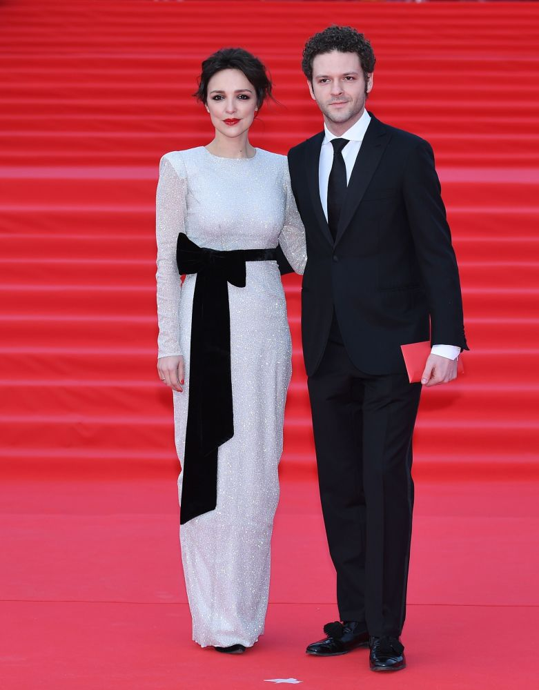 Aktor Konstantin Kryukov z żoną Aliną na otwarciu Moskiewskiego Międzynarodowego Festiwalu Filmowego