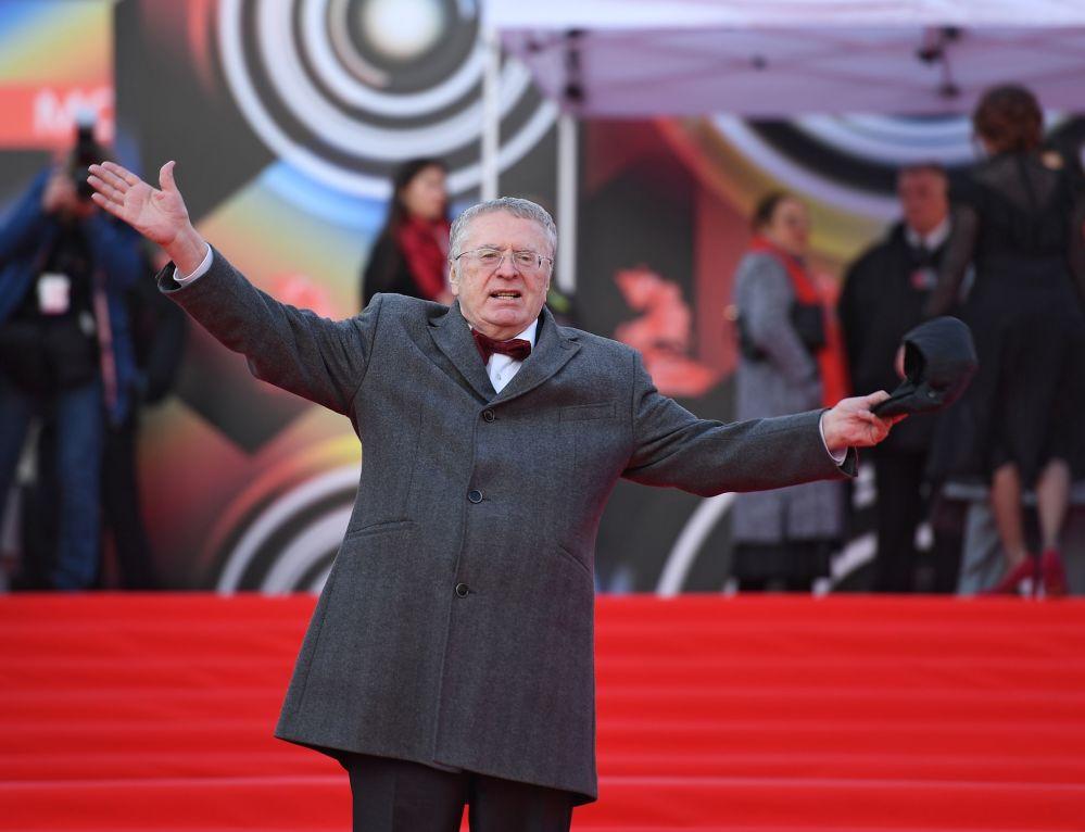Władimir Żyrinowski na otwarciu Moskiewskiego Międzynarodowego Festiwalu Filmowego