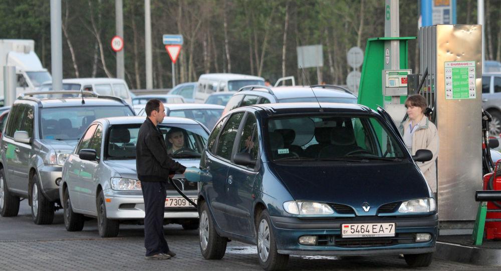 Stacja benzynowa firmy Belneftekhim w Mińsku
