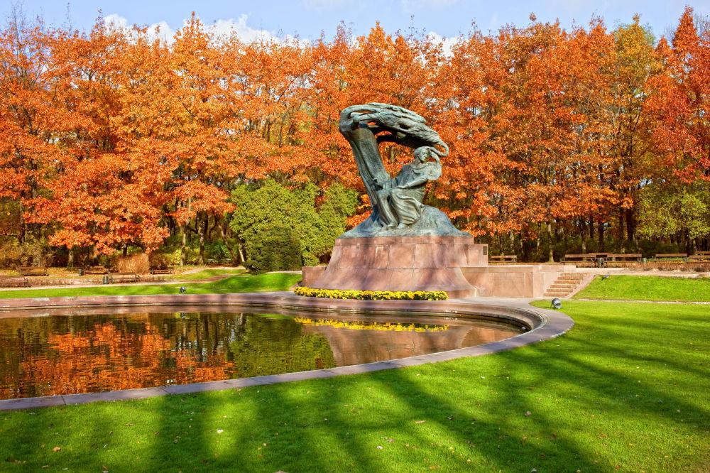 Pomnik Fryderyka Chopina w Łazienkach Królewskich w Warszawie, 2010 rok