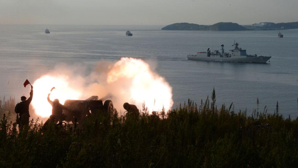 Strzelcy Brygady Morskiej Floty Pacyfiku w porcie Władywostok, 2017 rok