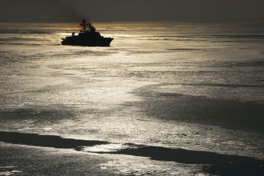 """Duży okręt podwodny Floty Pacyfiku Federacji Rosyjskiej """"Admiral Tribuc"""", 2017 rok"""