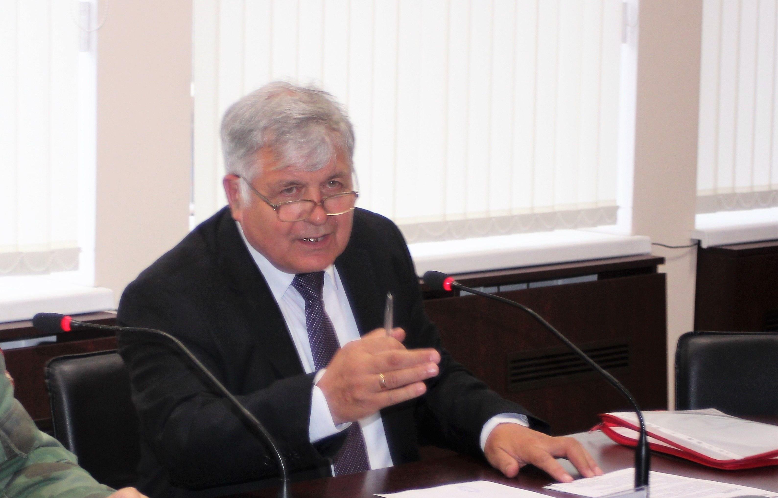 """Przewodniczący społecznej organizacji """"Kaliningrad-Świnoujście-Olsztyn"""" Włodzimierz Raszewski"""