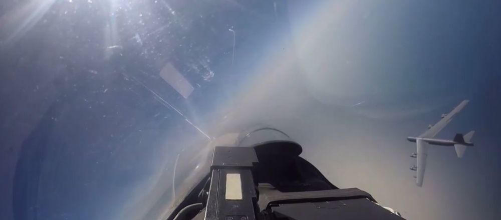 Su-27 przechwyciły amerykańskie bombowce nad Bałtykiem