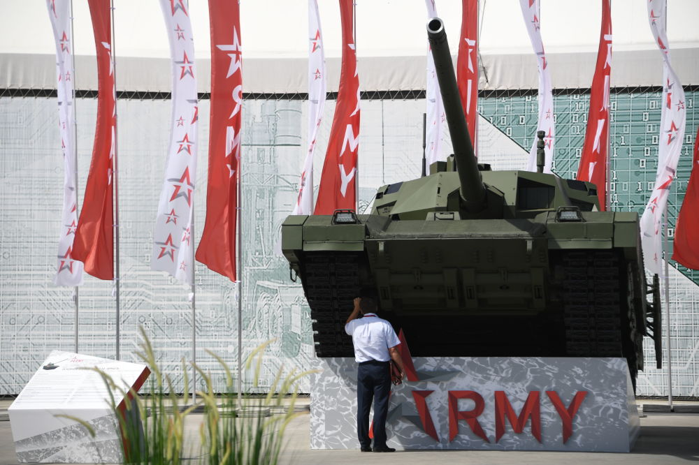 """Rosyjski czołg T-14 Armata na Międzynarodowym Forum Wojskowym """"Armia-2019"""""""