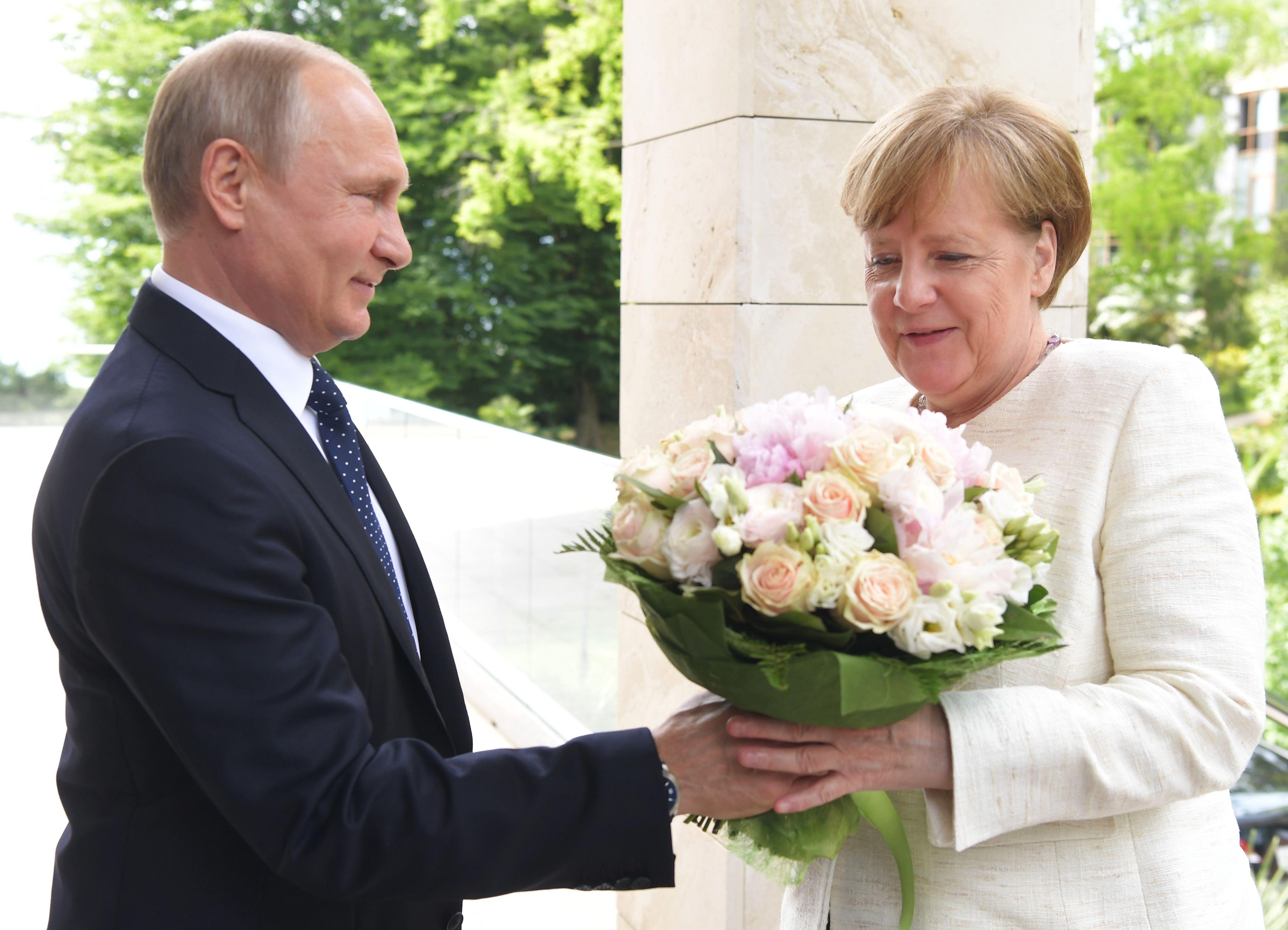 Spotkanie Putin-Merkel w Soczi