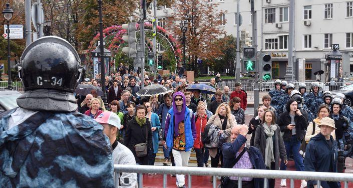 Protesty w Moskwie