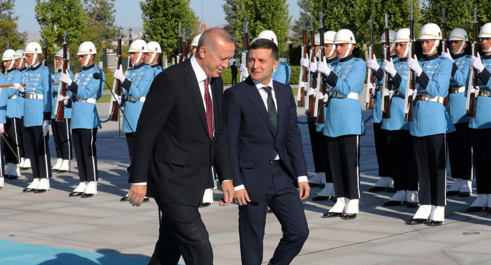 Prezydenci Turcji i Ukrainy Tayyip Erdogan i Wołodymyr Zełenski w Ankarze