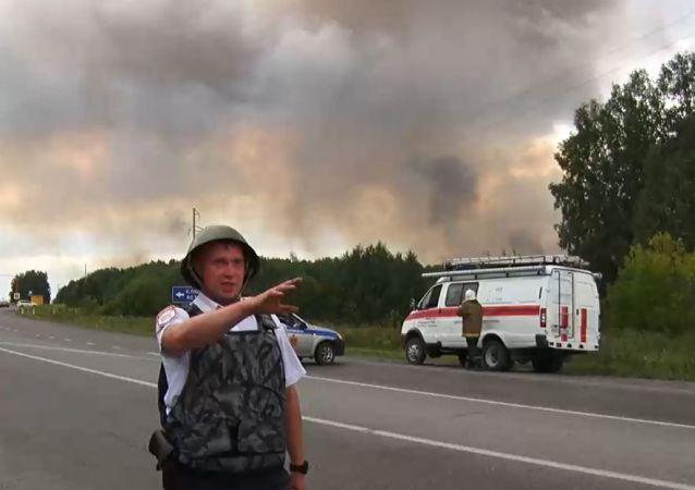 Wybuchy na poligonie wojskowym pod Aczyńskiem