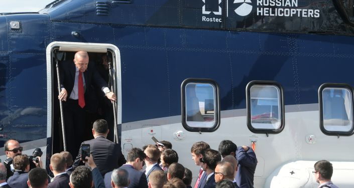 Recep Tayyip Erdogan na MAKS 2019