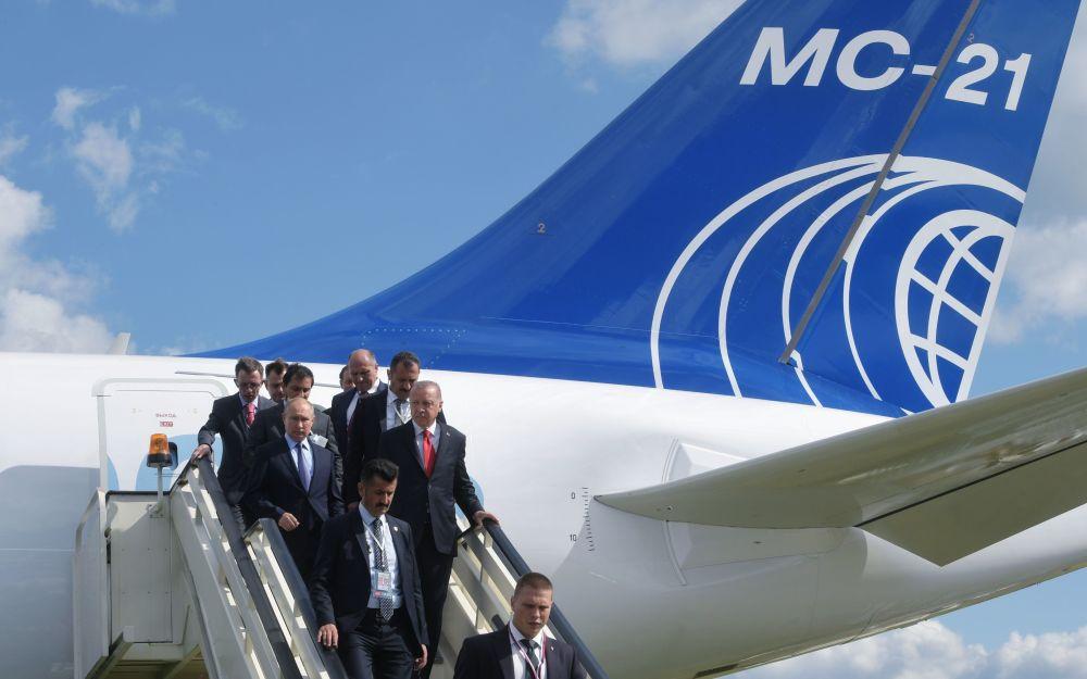Władimir Putin i Recep Erdogan przylecieli na Międzynarodowy Salon Lotniczy i Kosmiczny MAKS 2019
