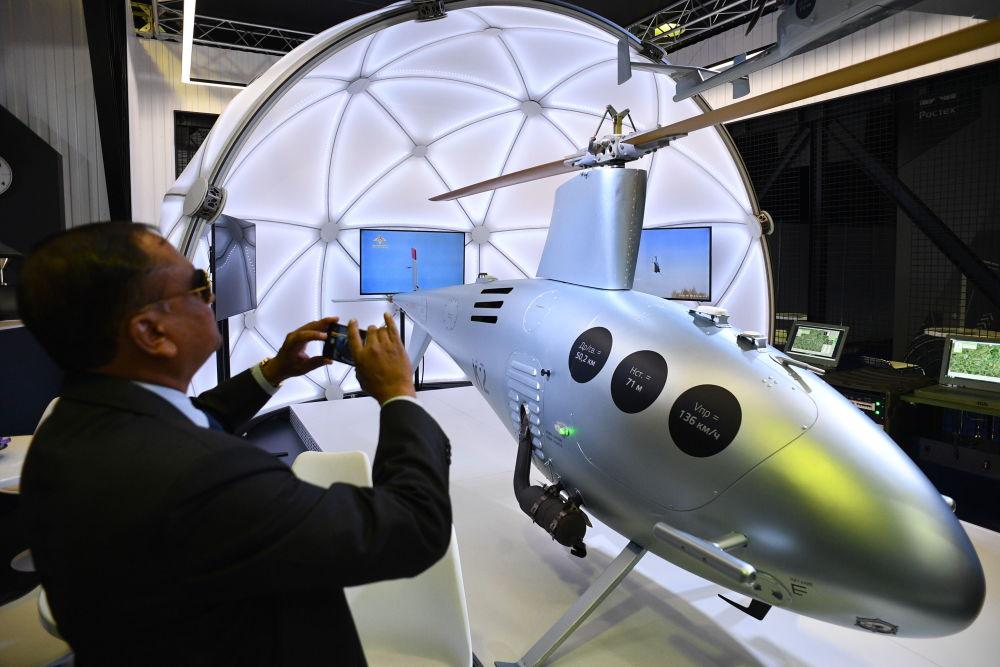 Rosyjski bezzałogowy śmigłowiec K2 na Międzynarodowym Salonie Lotniczym i Kosmicznym MAKS 2019