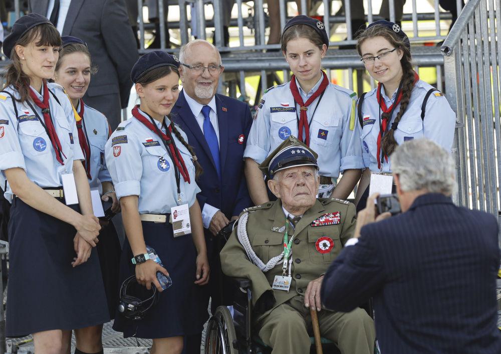 Polscy weterani wojny na uroczystości z okazji 80. rocznicy wybuchu II wojny światowej w Warszawie