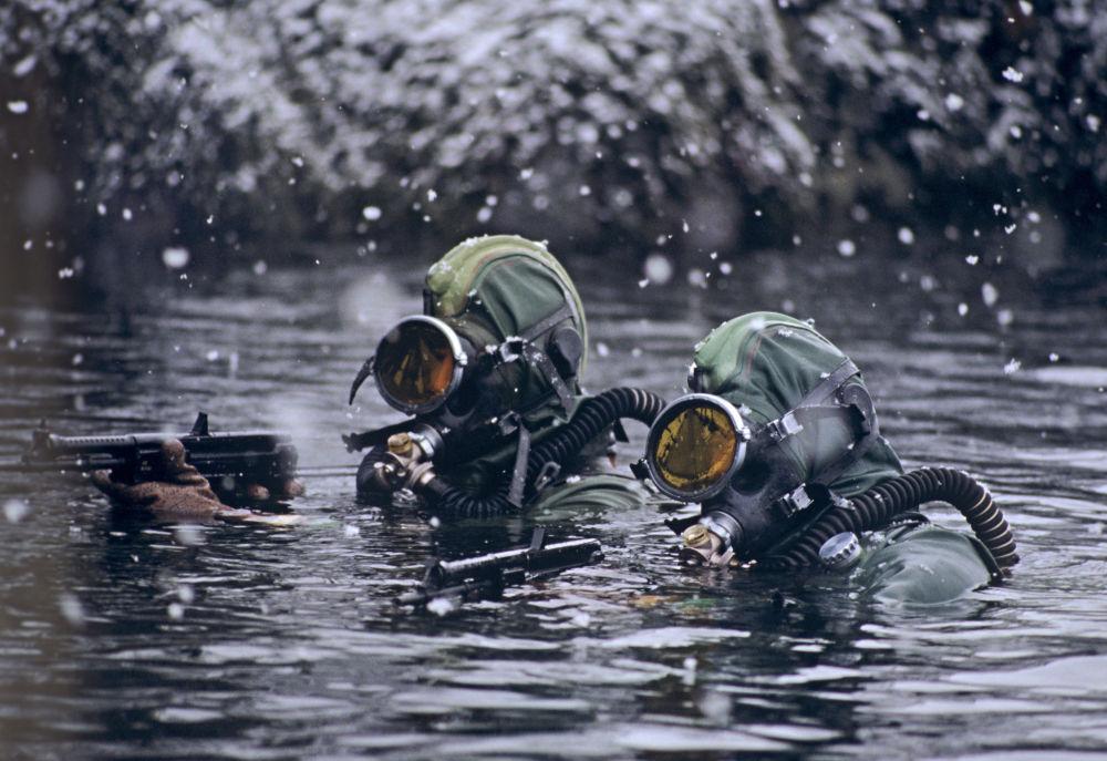 Specnaz podczas wypełniania zadań w Morzu Barentsa