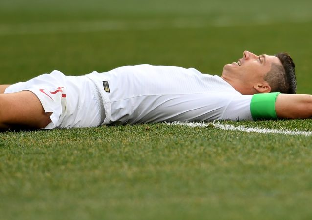 Robert Lewandowski. Polska - Japonia MŚ 2018