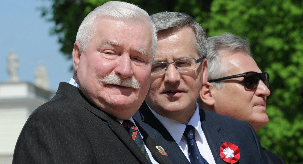 Prezydent Bronisław Komorowski, były prezydent RP Lech Wałęsa, były prezydent RP Aleksander Kwaśniewski