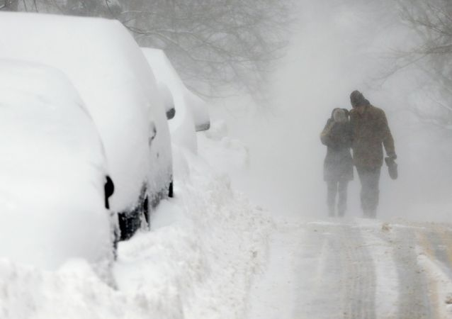 Opady śniegu w Bostonie