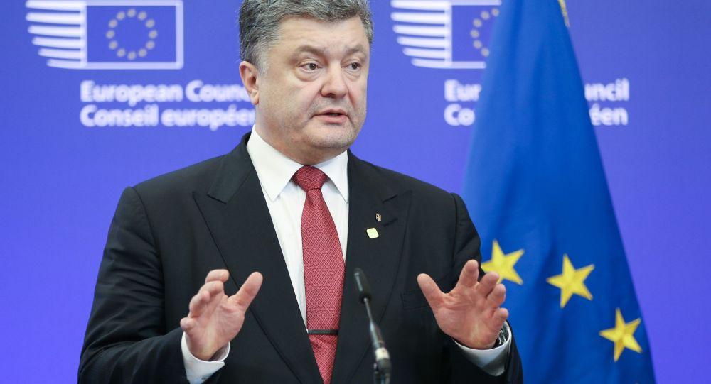 Prezydent Ukrainy Petro Poroszenko w Brukseli