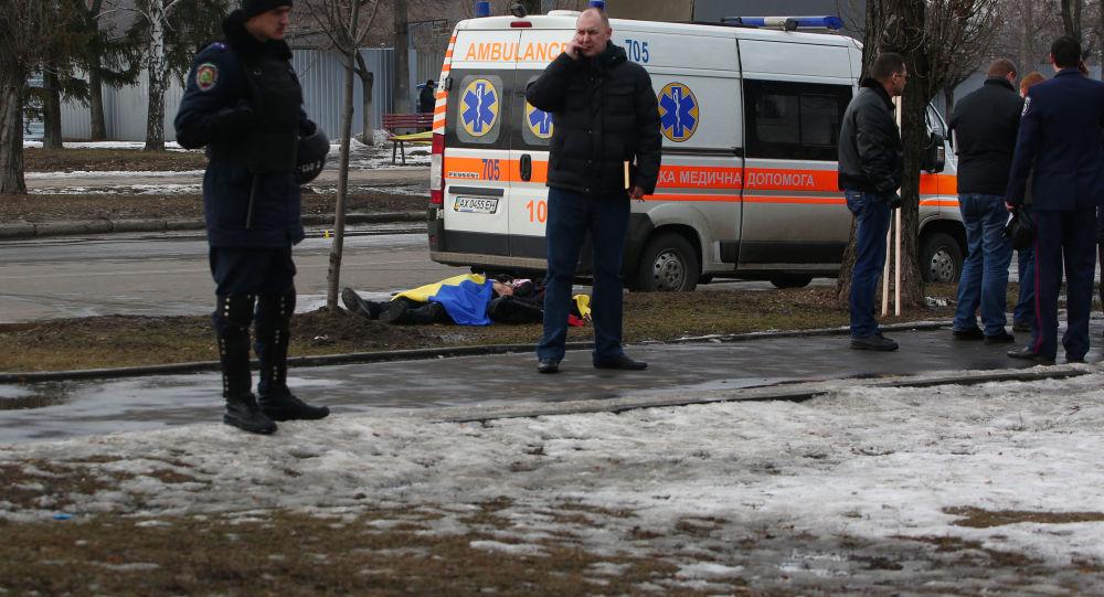 Wybuch podczas pokojowego marszu w Charkowie