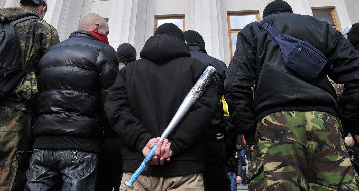Zwolennicy Prawego Sektora, Kijów, marzec 2014 roku