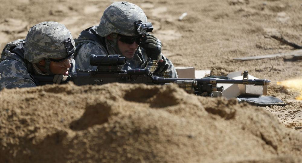 Żołnierze amerykańskie podczas szkoleń wojskowych na Litwie