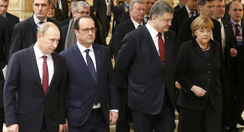 Spotkanie przywódców Rosji, Francji, Ukrainy i Niemiec w Mińsku