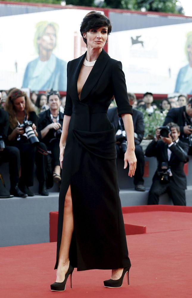 Członek jury festiwalu - hiszpańska aktorka Pas Vega w Wenecji