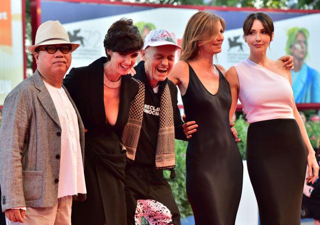 Członkowie jury specjalnego programu fesiwalu Horyzonty w Wenecji