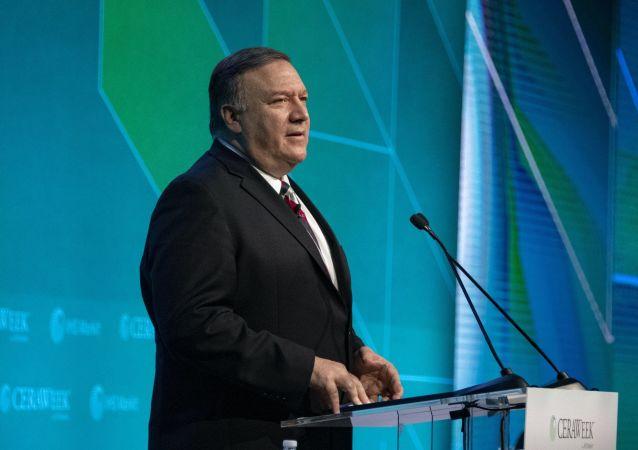 Sekretarz stanu USA Michael Pompeo na konferencji CERAWeek w Houston