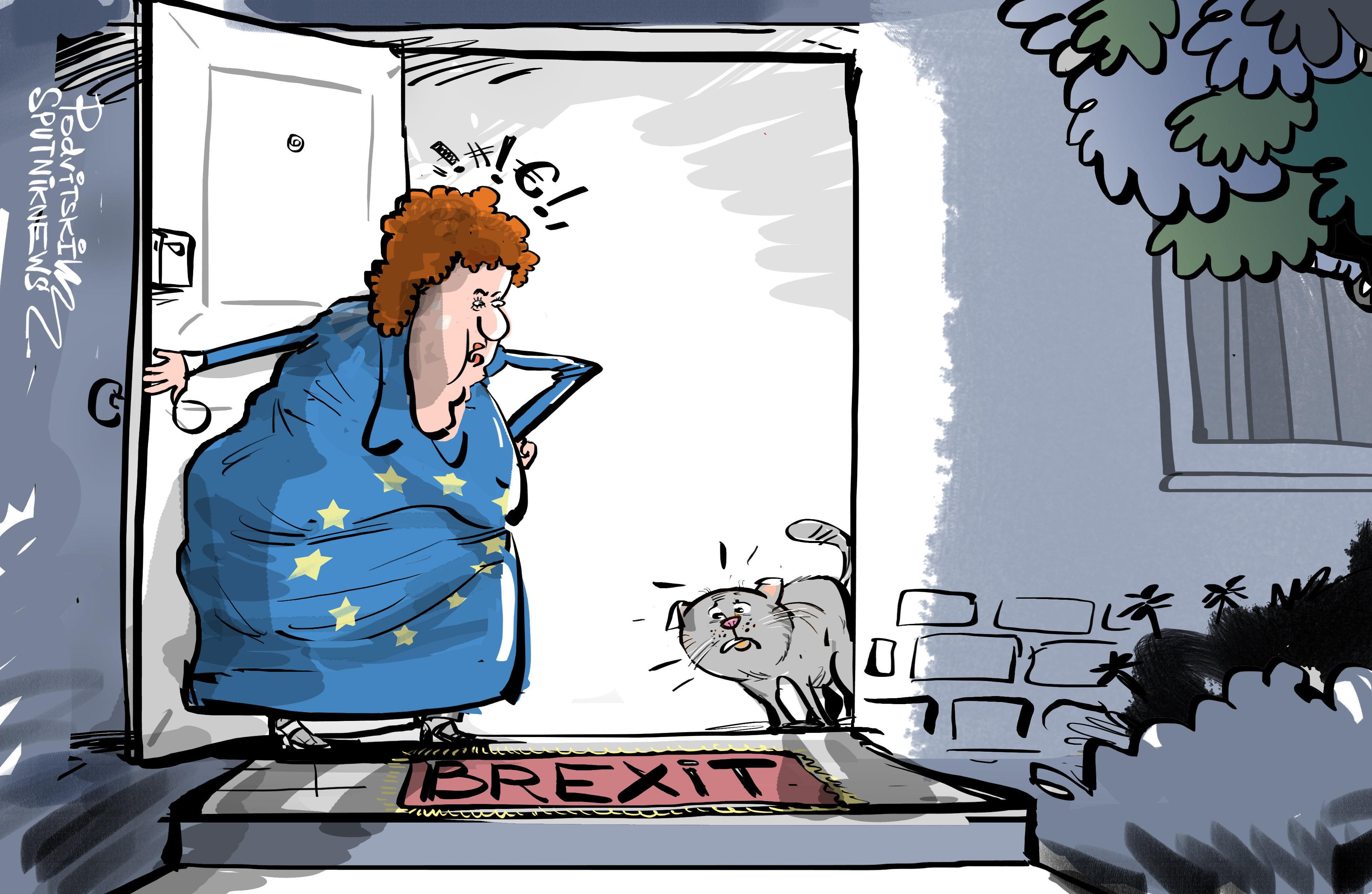 Brexit. Brytyjski kot cały czas stoi w drzwiach