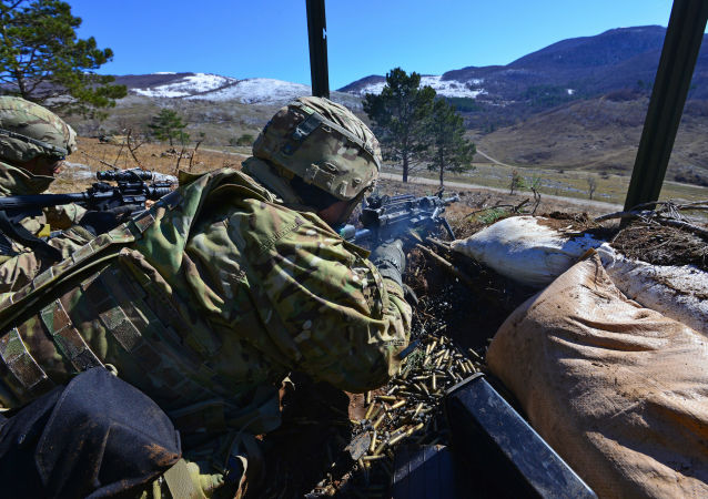 Amerykańscy desantowcy podczas ćwiczeń wojskowych NATO w Słowenii