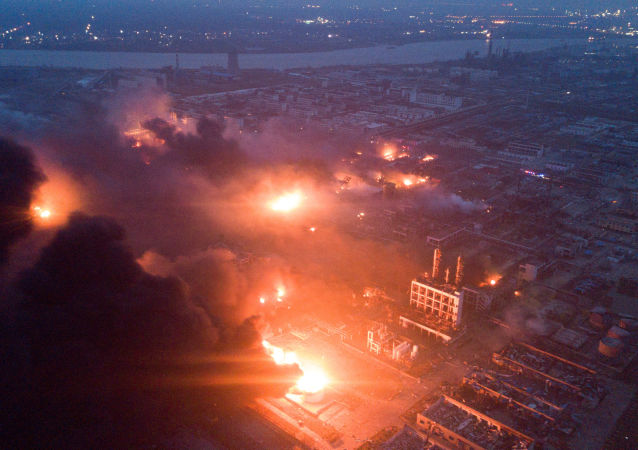 Eksplozjia w fabryce chemicznej w chińskiej wschodniej prowincji Jiangsu