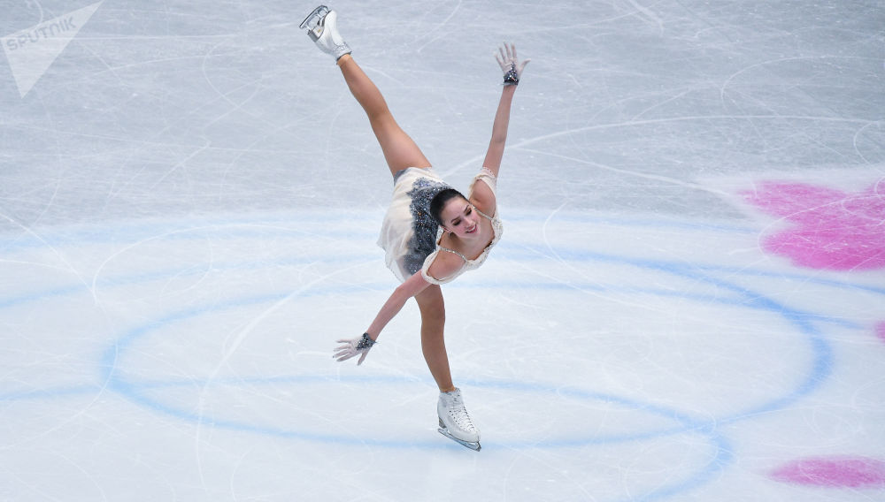 Alina Zagitowa w krótkim programie solowym kobiet na Mistrzostwach Świata w łyżwiarstwie figurowym w Saitame.