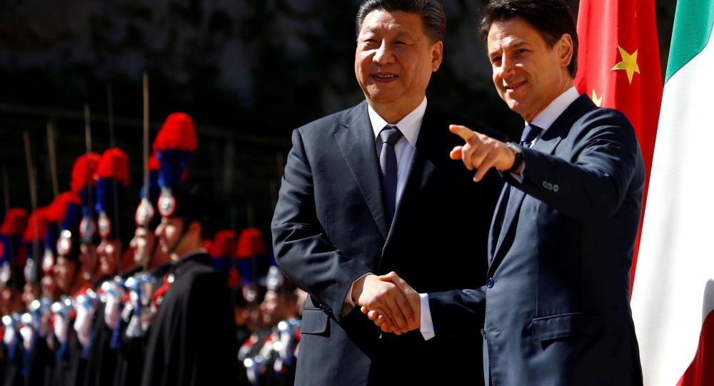 Xi Jinping i Giuseppe Conte