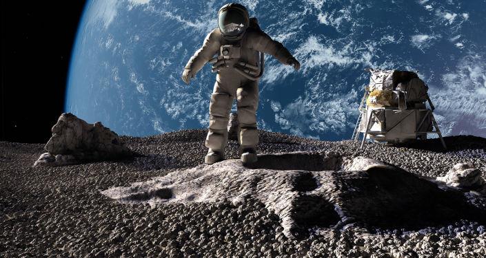 Astronauci na tle planety Ziemia