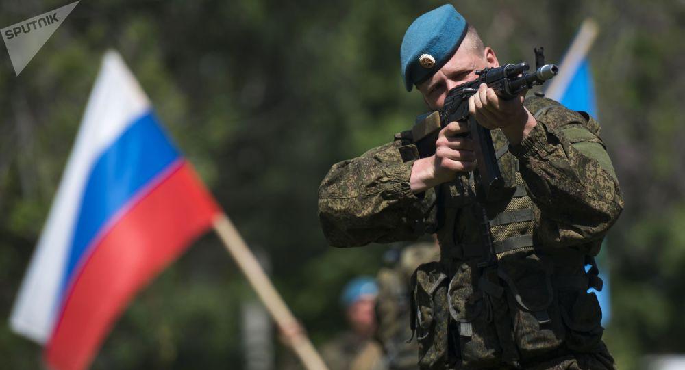 Rosyjski żołnierz w Kirgistanie
