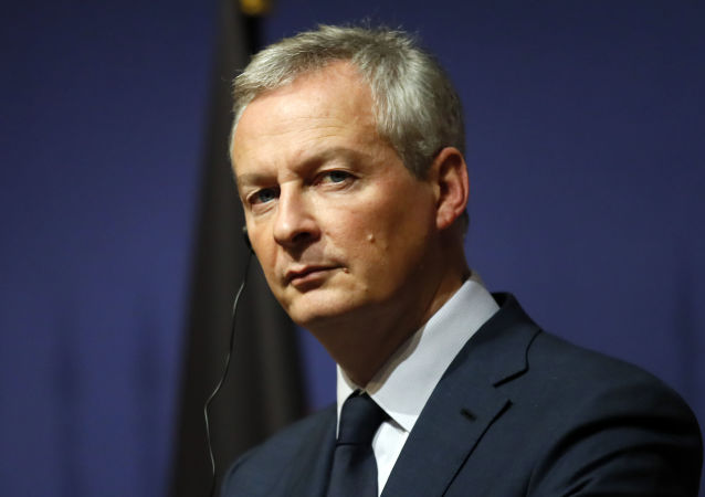 Minister gospodarki i finansów Francji Bruno Le Mayor