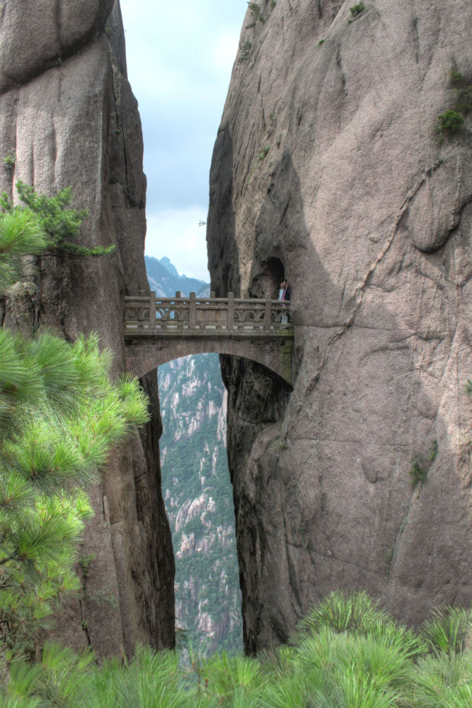 Most na górze Hua Shan w Chinach