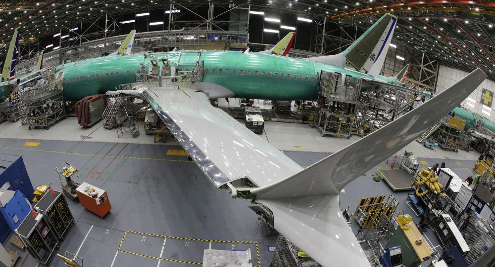 Samolot Boeing 737 MAX 8 w fabryce Boeing 737 w Renton, USA