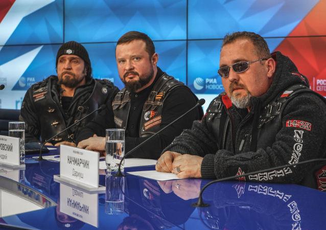 Rosyjski klub motocyklowy Nocne Wilki.