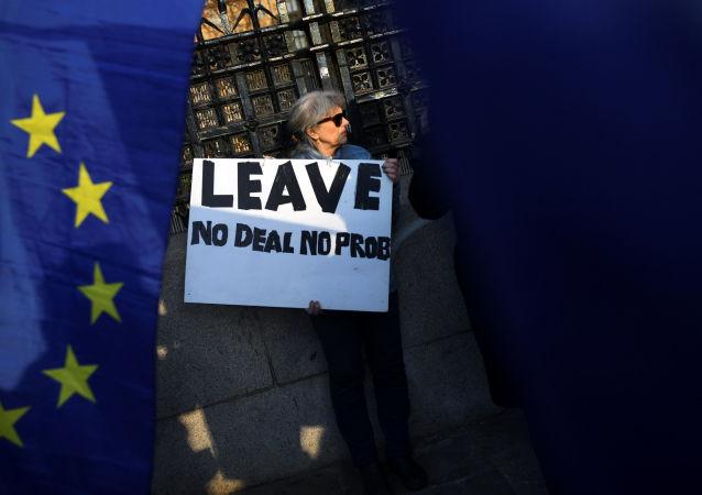 Zwolennicy Brexitu w Londynie