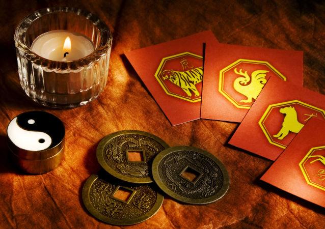 Karty z oznaczeniami chińskiego horoskopu