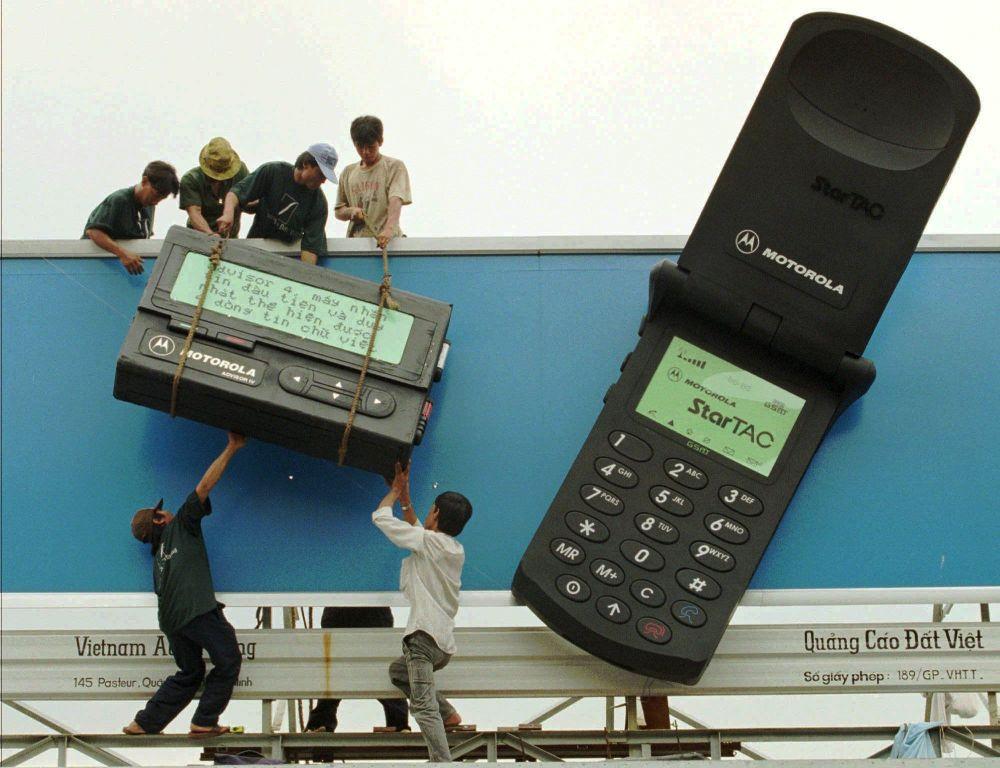 Reklama produktów Motorola w Ho Chi Minh, 1996 rok