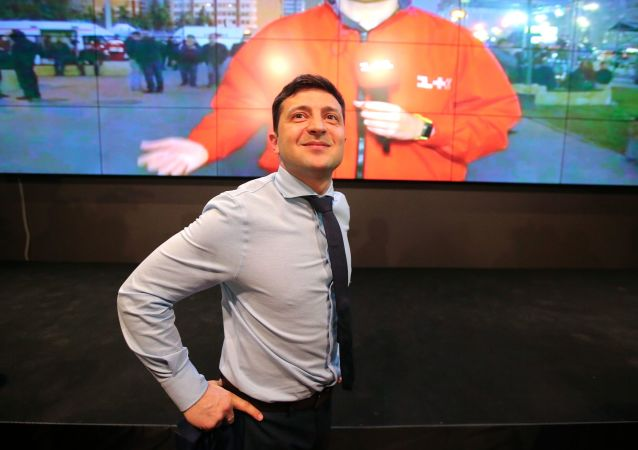 Kandydat na prezydenta Ukrainy, Wołodymyr Zełenski