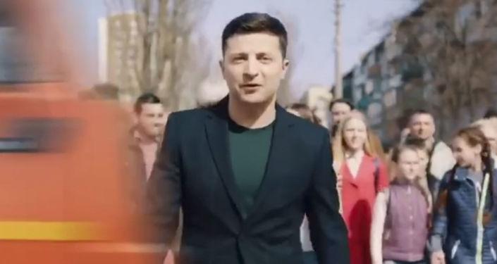 Wołodymyr Zełenski w filmiku zmontowanym rzekomo przez Petra Poroszenkę