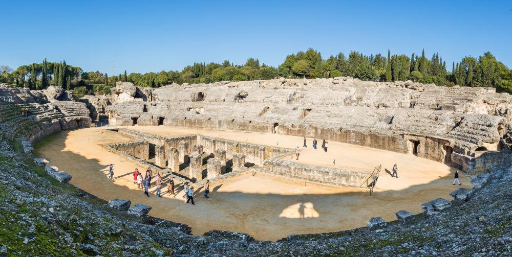 Ruiny rzymskiego amfiteatru w Sewillii