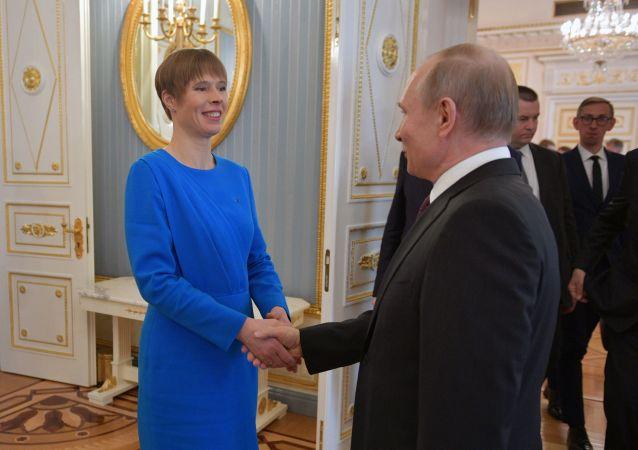 Prezydent Estonii Kersti Kaljulaid spotkała się z prezydentem Rosji Władimirem Putinem
