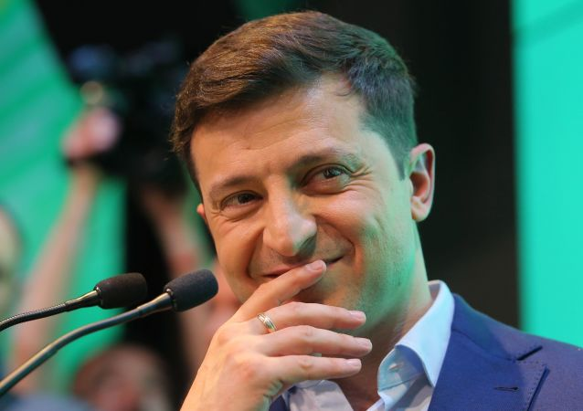 Nowo wybrany prezydent Wołodymyr Zełenski