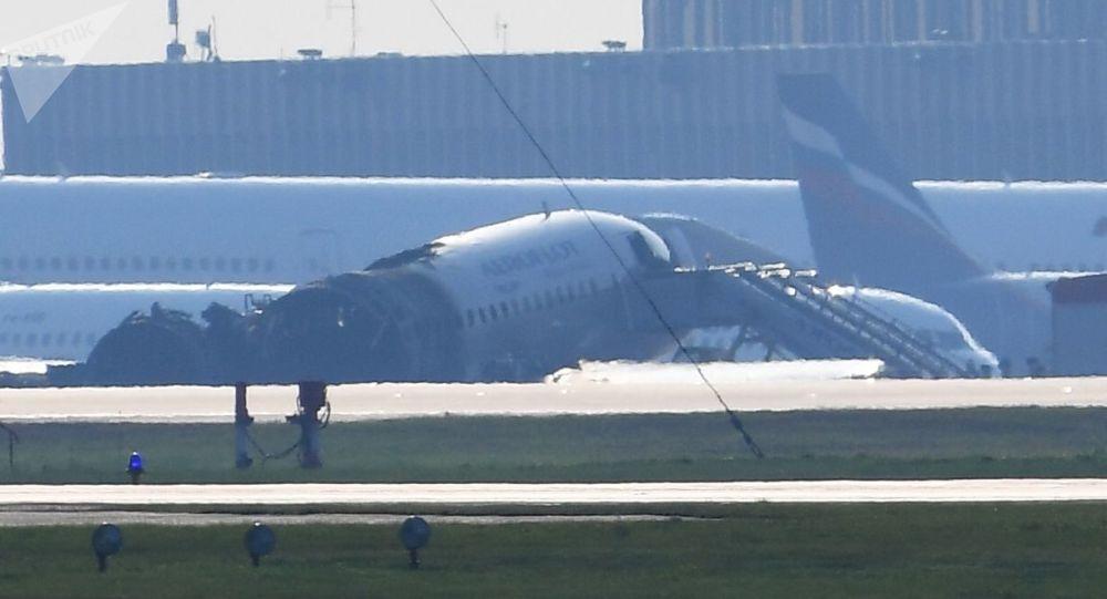 Samolot Sukhoi Superjet 100 linii lotniczych Aerofłot, Szeremietiewo