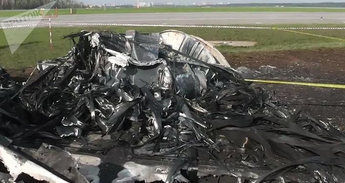Samolot Sukhoi Superjet-100 Aeroflotu, na pokładzie którego doszło do tragedii
